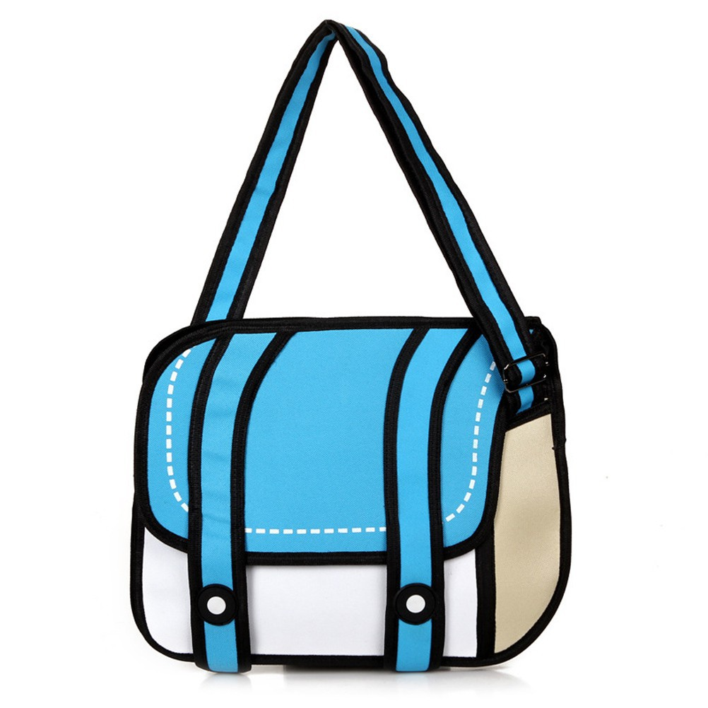 Girls 3d Jump Style 2d Drawing Comic Cartoon Bag Tote Should Shopee Philippines