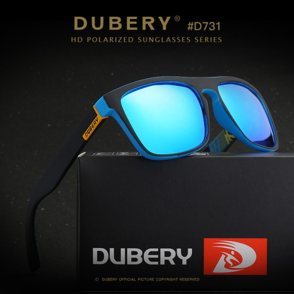 5879a50263 DUBERY Polarized Sunglasses Unisex Square Cycle Driving Fish ...