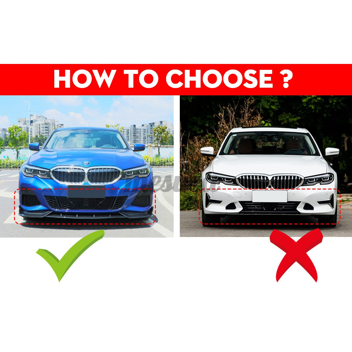 For Bmw 3 Series G20 G28 2019 2020 Matte Black Front Bumper Lip Spoiler Cover Mesuca Shopee Philippines