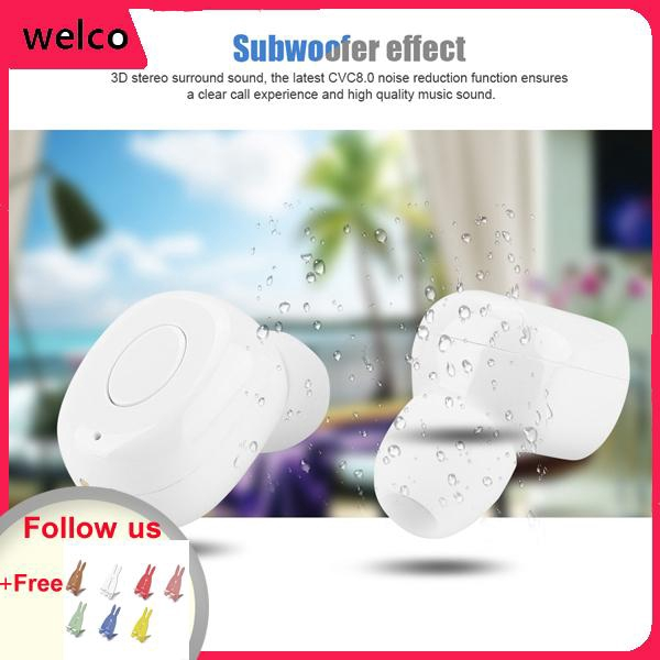 Mini HD Sound White Bluetooth Headset Wireless Waterproof