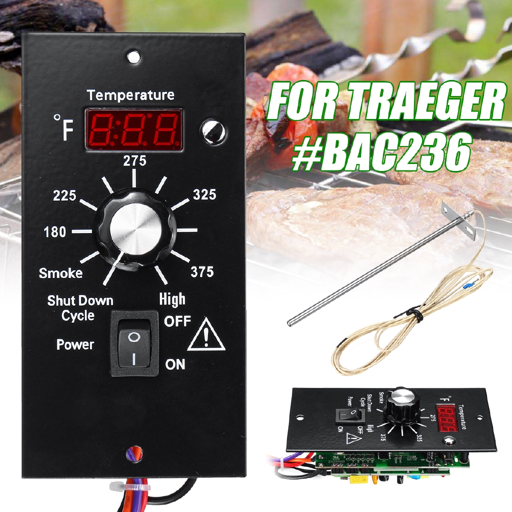 Digital Thermostat Control Board + Probe For Traeger Wood