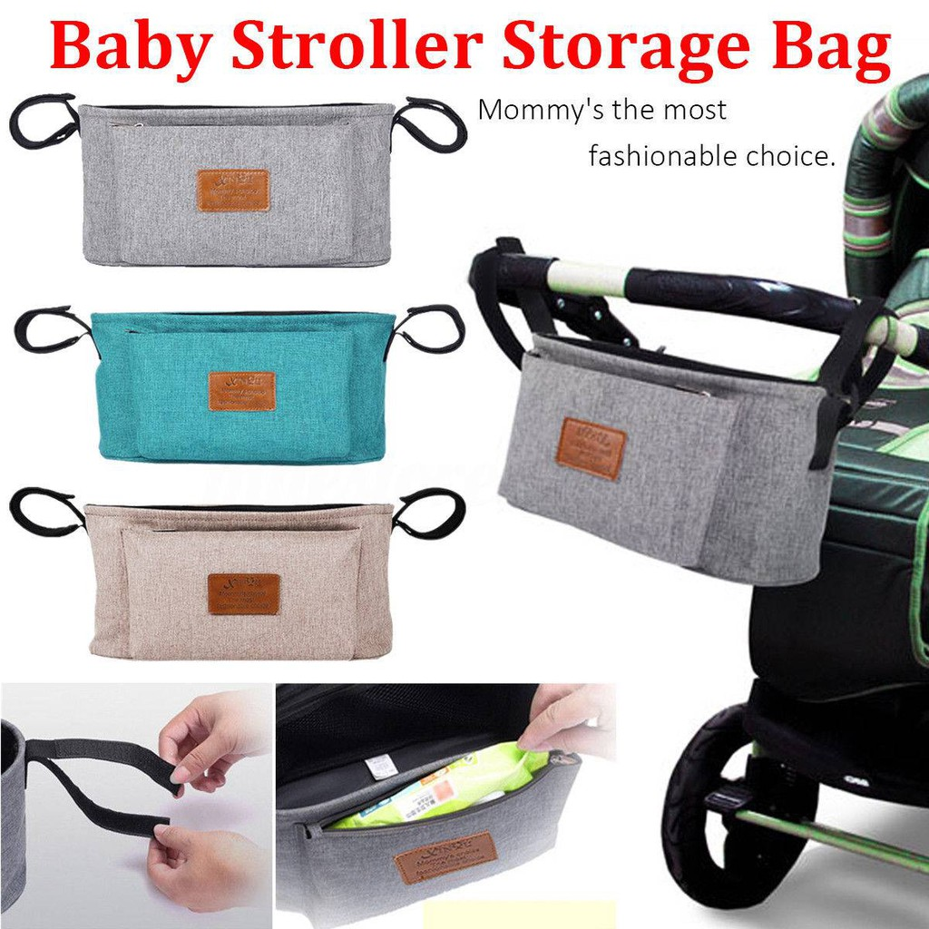 New Baby Stroller Insulated Cup Holder Pushchair Pram Drink Bottle Organizer Bag