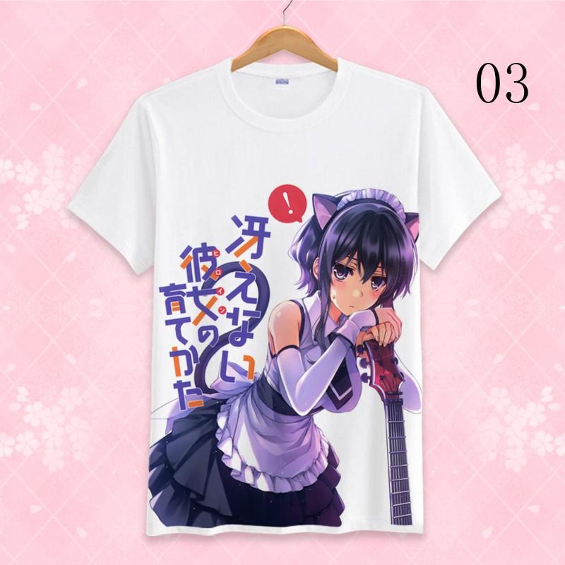 Anime DATE A LIVE Tokisaki Kurumi Unisex T-shirt Short Sleeve Cosplay#03