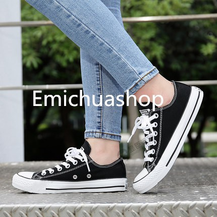 Converse Low Cut Cloth Shoes For Women And Men Unisex