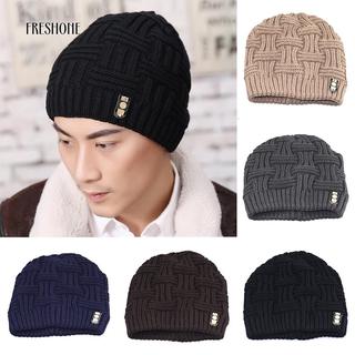 1b2ede9b8 COD!!!Freshone Men's Fashion Winter Beanies Bonnet Knitted Hat Soft ...