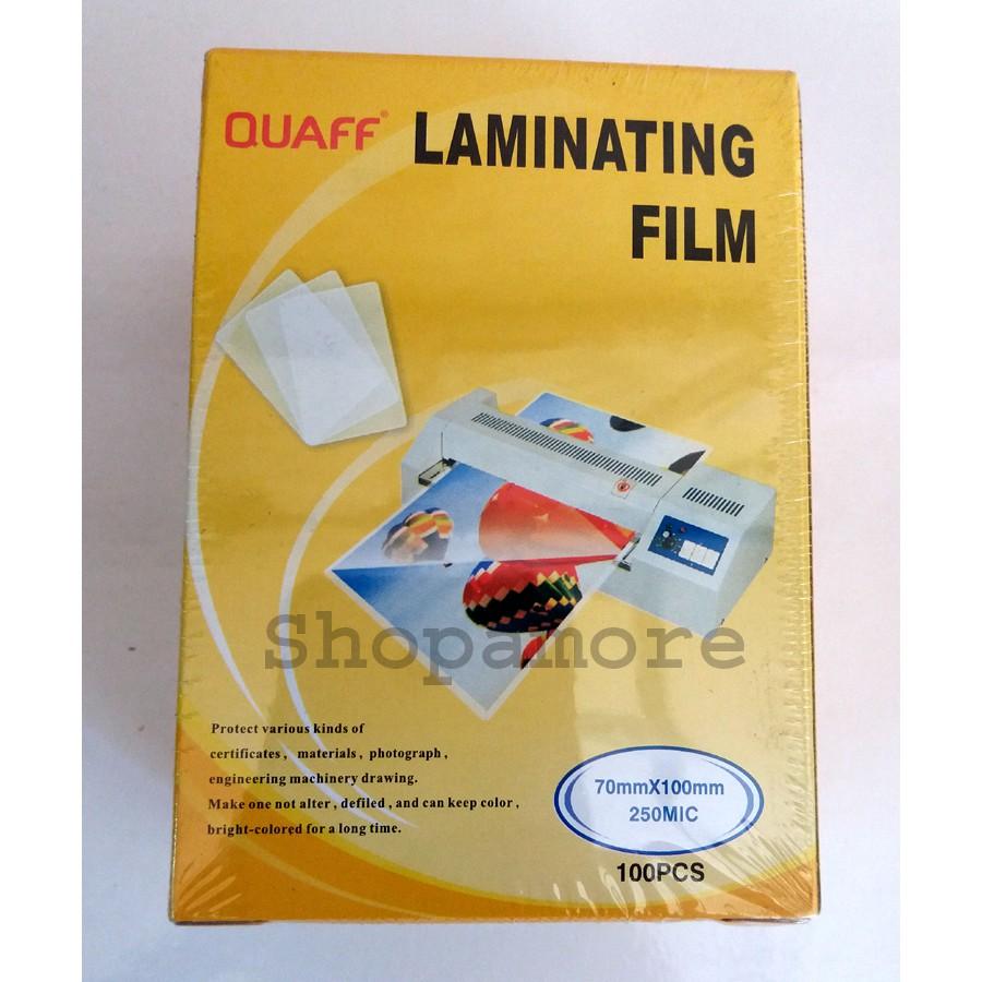 1 pack id lamination film 70 x 100mm x 250mic