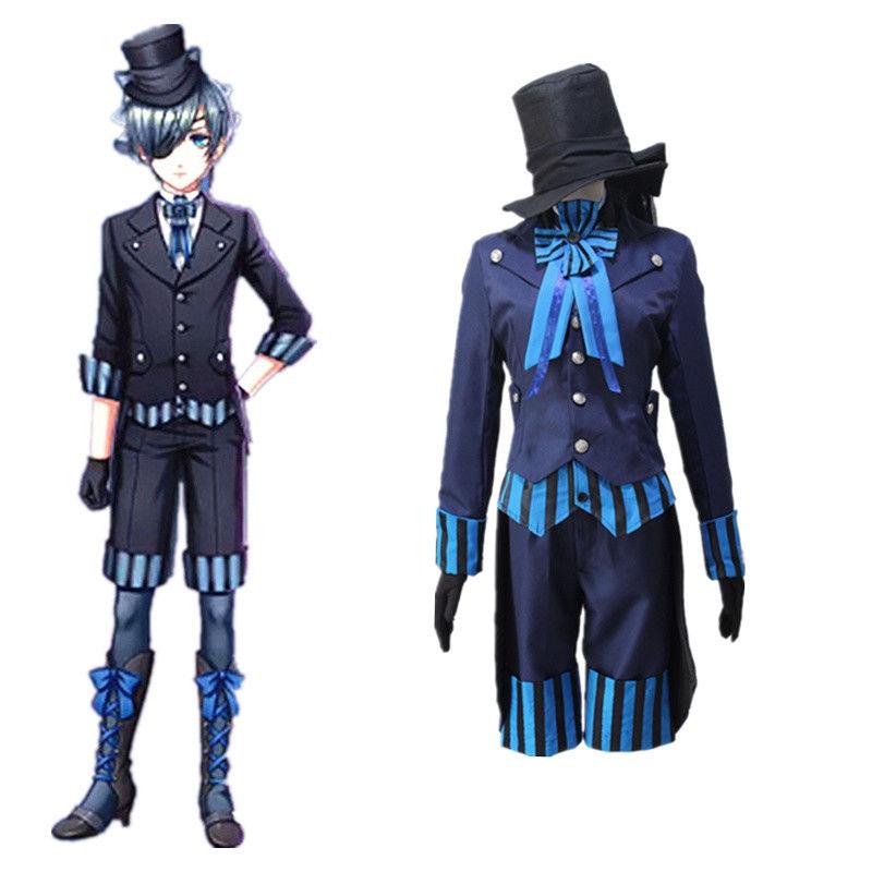 Hot Black Butler kuroshitsuji Ciel Phantomhive Cosplay party Costume