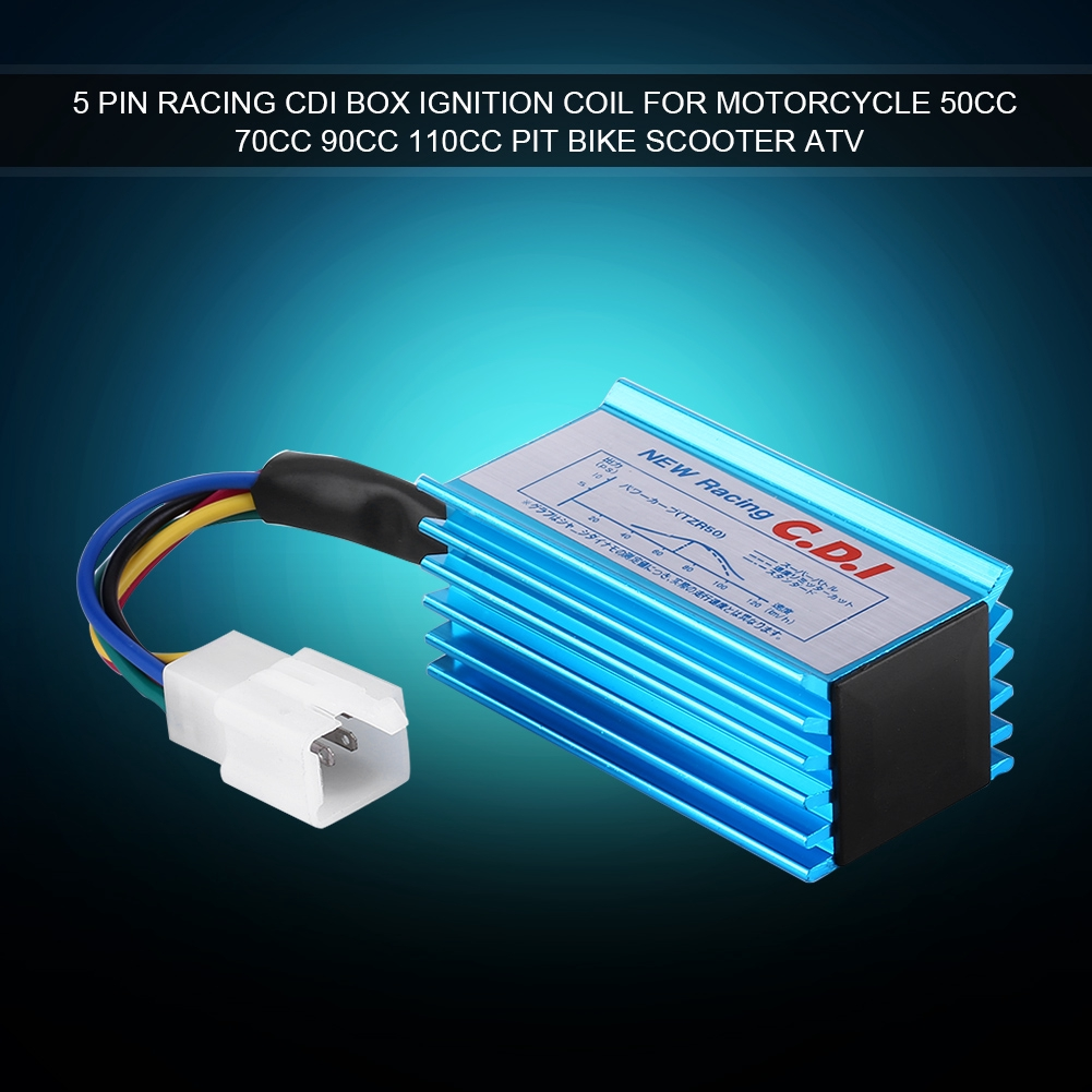 5-Pin AC Racing CDI Box Ignition For Motorcycle 50cc 70cc 90cc 110cc Scooter ATV