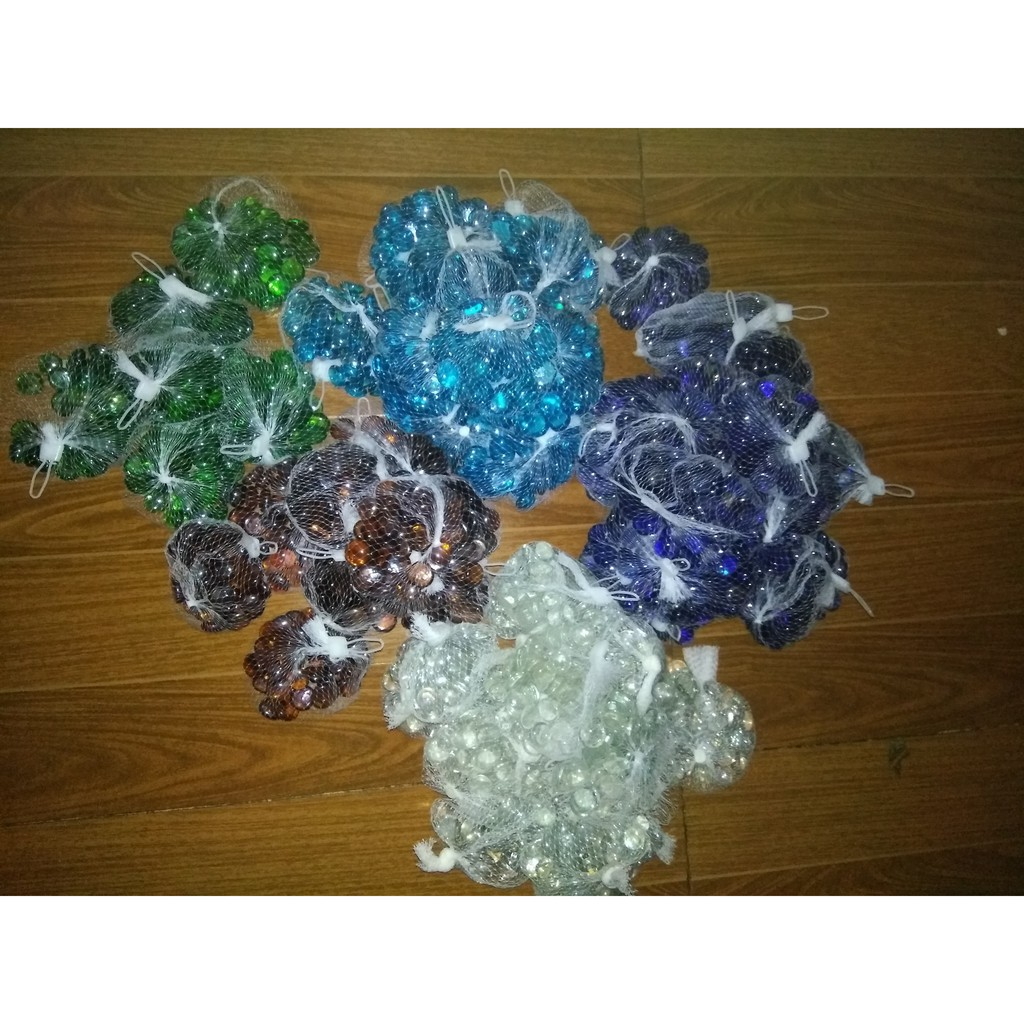 GLASS PEBBLES FOR AQUARIUM AND DECORATIVE PURPOSE BLUE COLOR 500gm