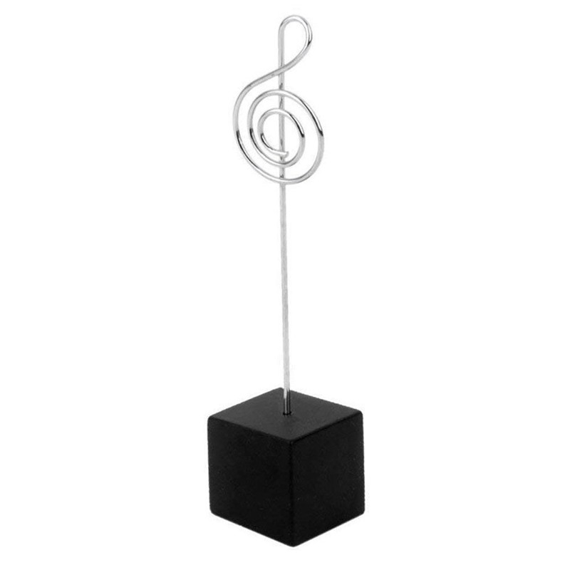 Clips 10pcs Music Shape Table Number Holder Name Place Card Holder Memo Clip Holder Standr Pictures Card Paper Menu Clip