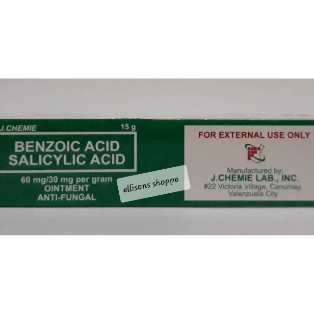Benzoic Acid and Salicylic Acid Ointment Antifungal 15g