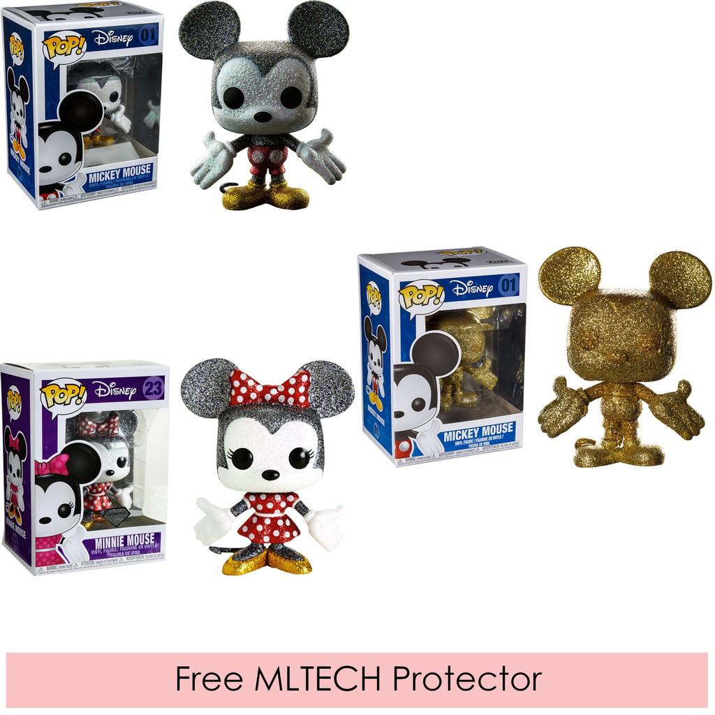 Vinyl FunKo Free Shipping! Mickey Mouse Mickey Gold Diamond Glitter Pop