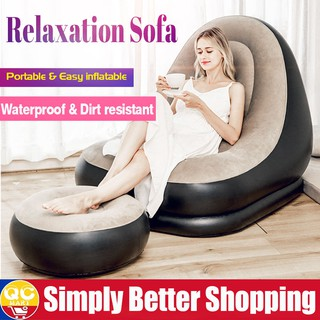 Groovy Home Kitchen Furniture Deluxe Inflatable Lounge Lounger Onthecornerstone Fun Painted Chair Ideas Images Onthecornerstoneorg