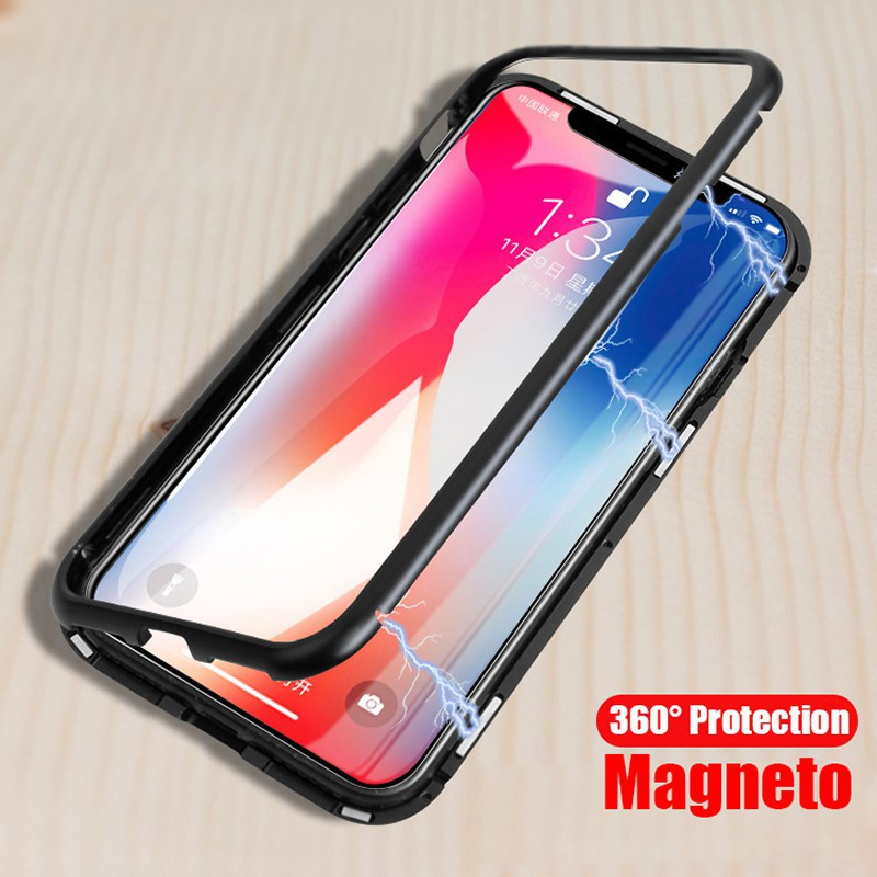 online store a4af9 c2ff5 iPhone 6 6S 7 8 Plus x xs xr xmax Magnet Metal Bumper Case