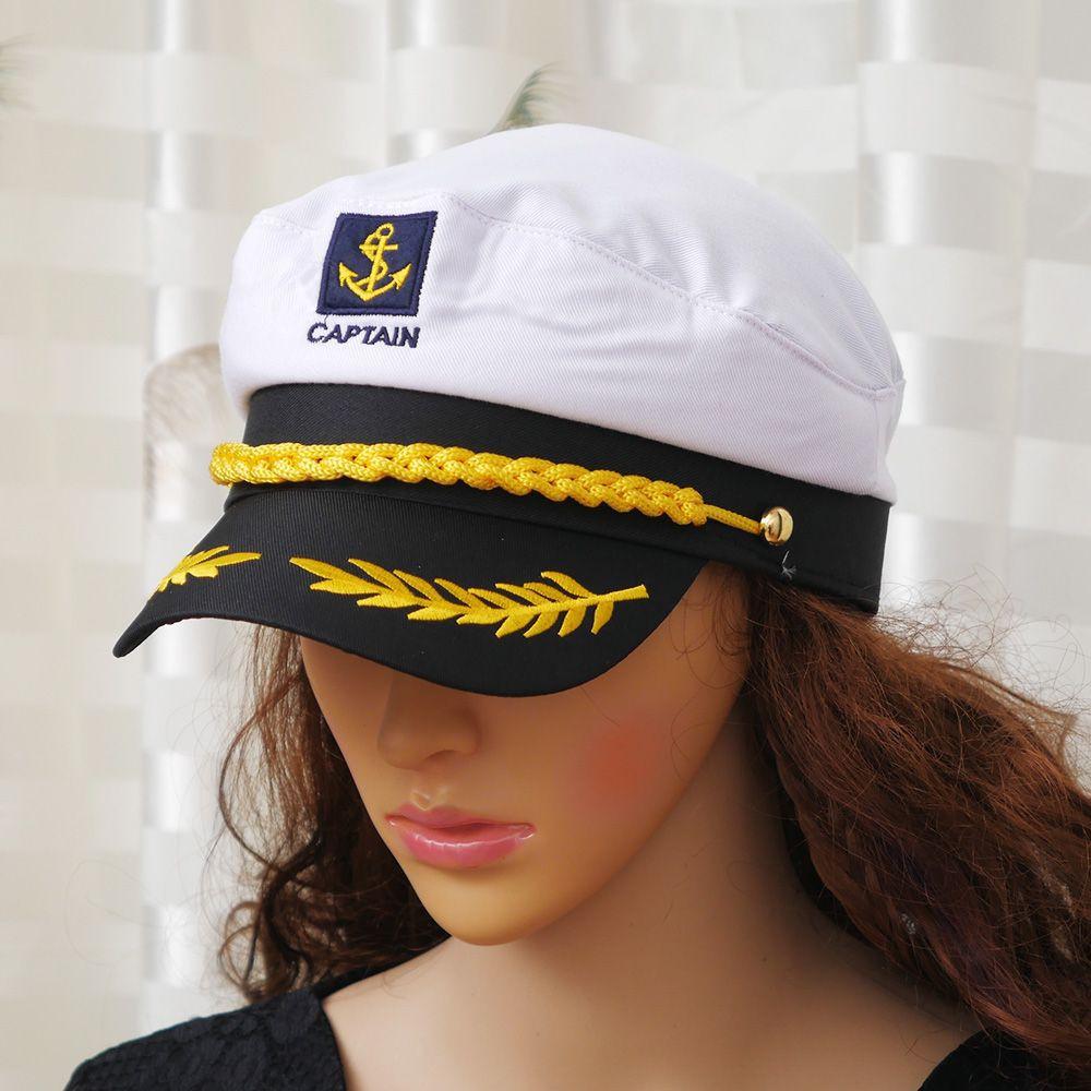 b1400b67 Unisex Skipper Ship Sailor Navy Yacht Military Captain Nautical Hat Cap  Fashion | Shopee Philippines