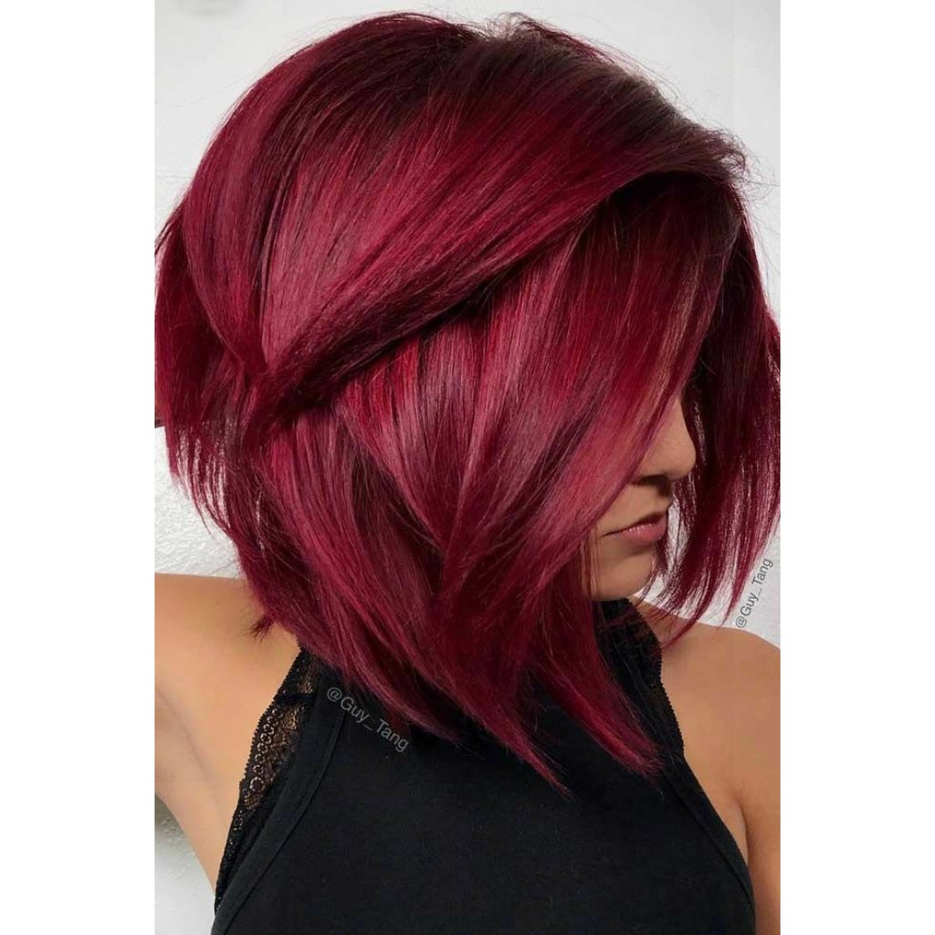 Bright Red Hair Color Sunbright Series