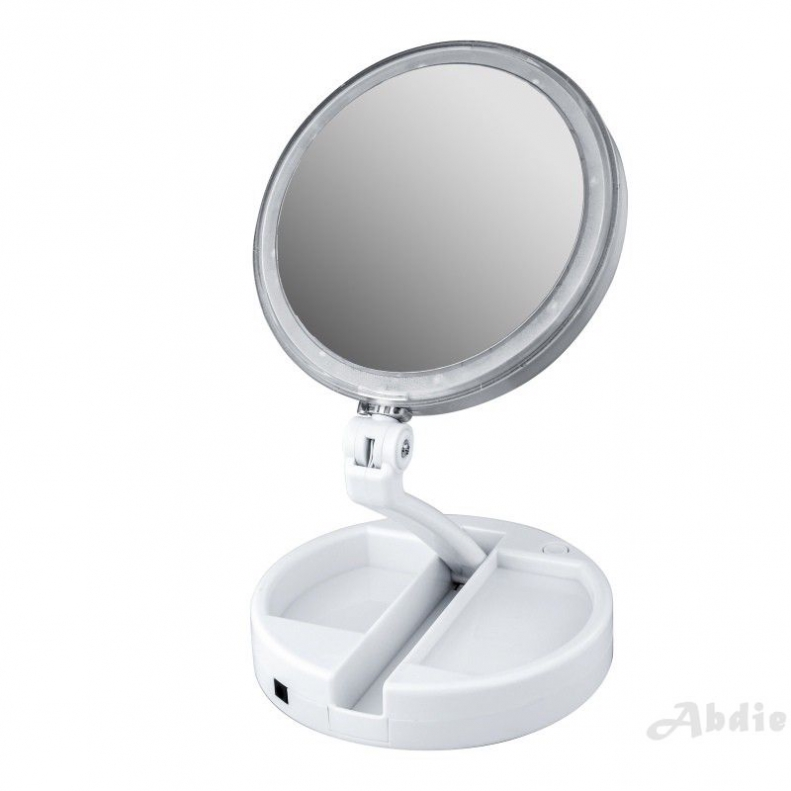 Double Side Led Lighted Mirror Portable Mirror Cosmetic Shopee Philippines