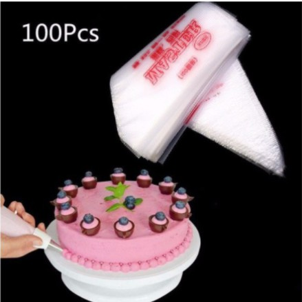 100x Disposable Cream Pastry Cake Icing Piping Decorate Bags Tool Nozzle