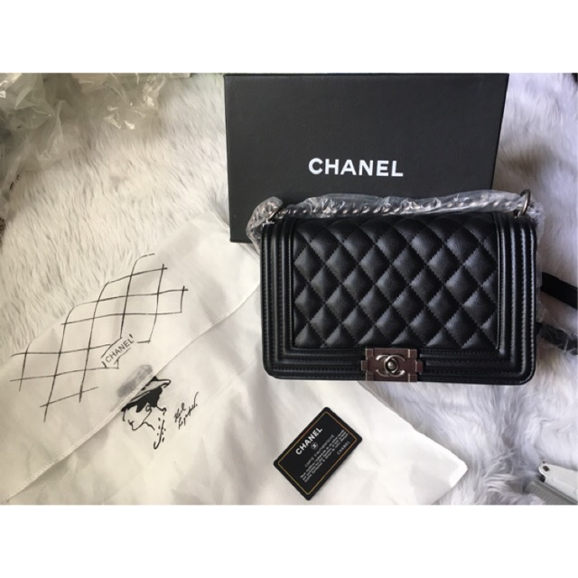 4e94f3820dd6cd SALE❤️Fix Price!!! Preloved Chanel Le Boy Small | Shopee Philippines