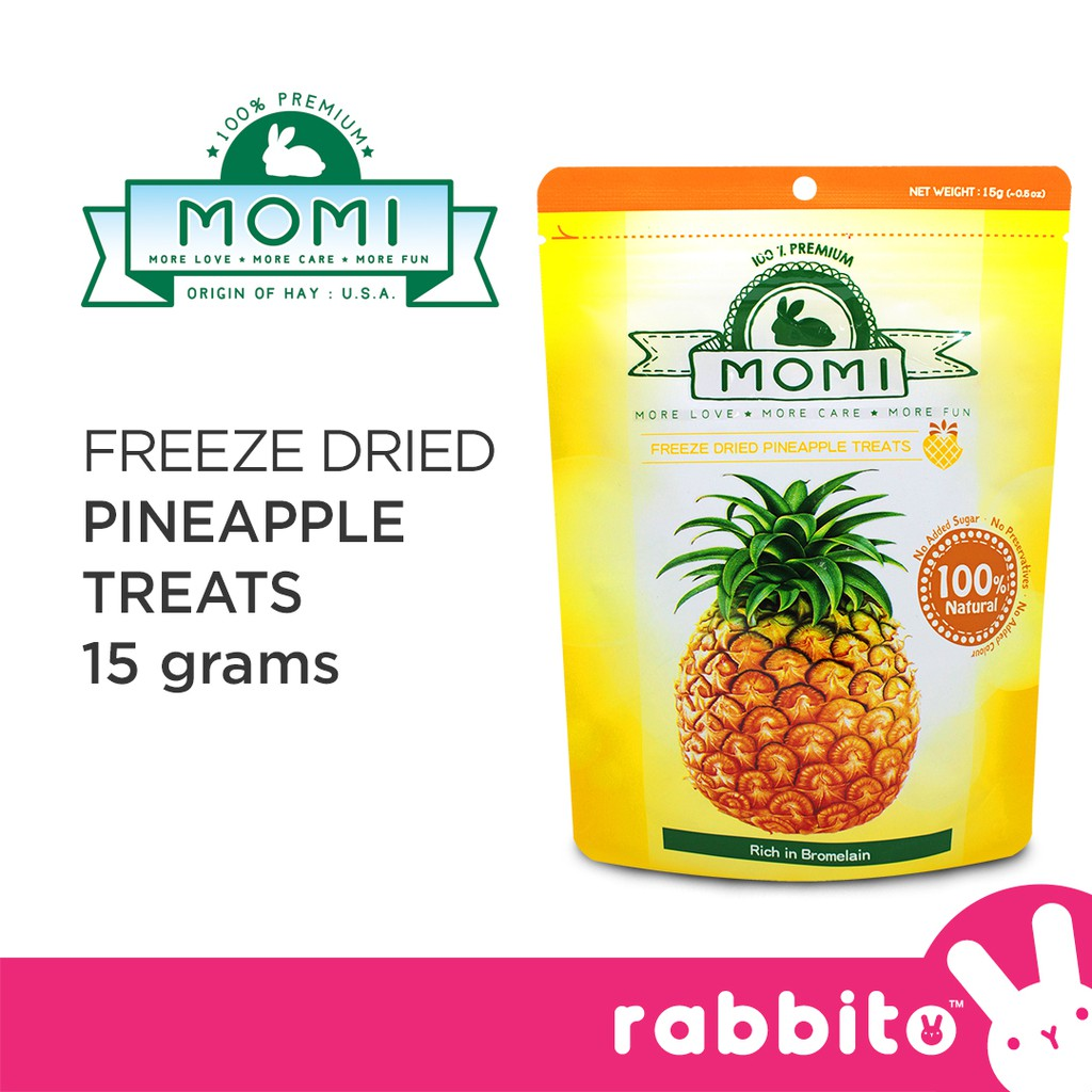 Momi Freeze Dried Fruit Treats 20g for Rabbits Small Animals ...