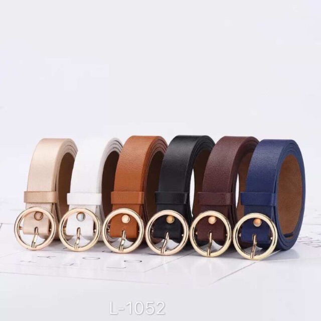 e28a5b29473 HH Restock Plain Vintage Metal Boho Leather Round Buckle Belt