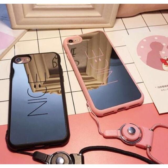 pretty nice 7e2d6 b1784 Korea mirror Nice IPHONE 5 5S 6 6S 7 8 PLUS CASE W/O LANCE