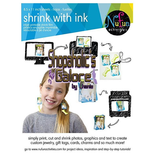 photo about Printable Shrink Film known as NuFun Functions Inkjet Printable Shrink (the two facets)