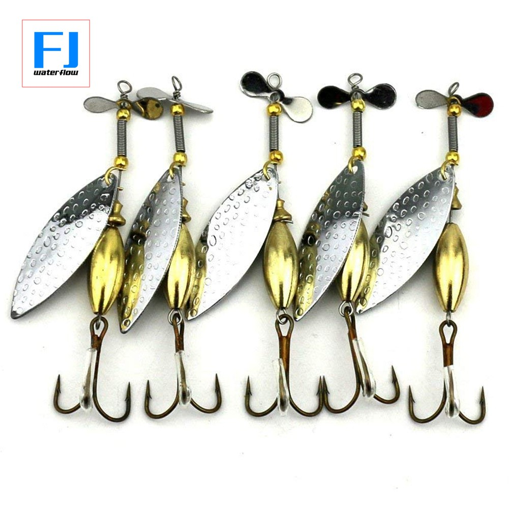10 Pieces Fishing Sequins Lures Metal Spoons Hard Bait Fishing Tackle 3cm
