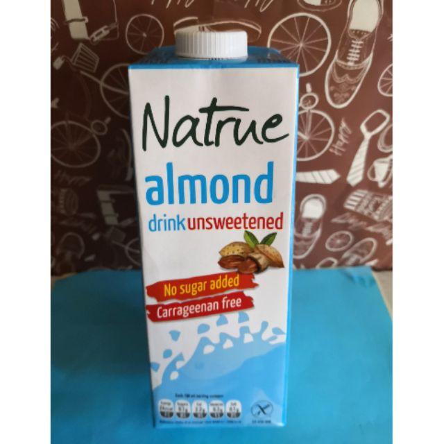 Keto approved Natrue Almond Milk Unsweetened 1liter ...