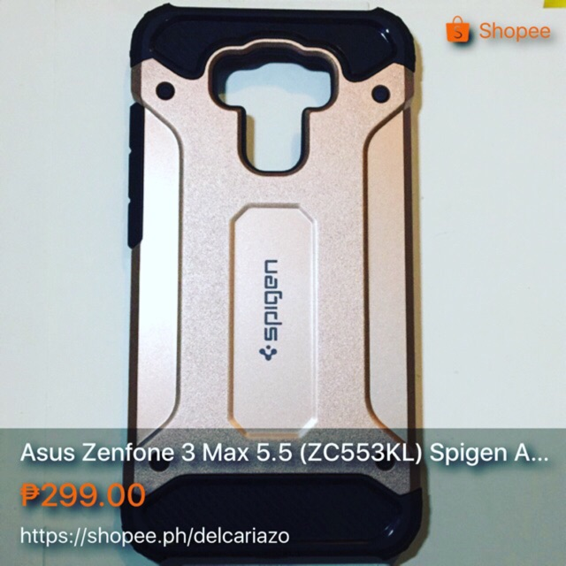 """Asus Zenfone 3 Max ZC553KL 5.5"""" Case Rugged Dual-Layer Cover 