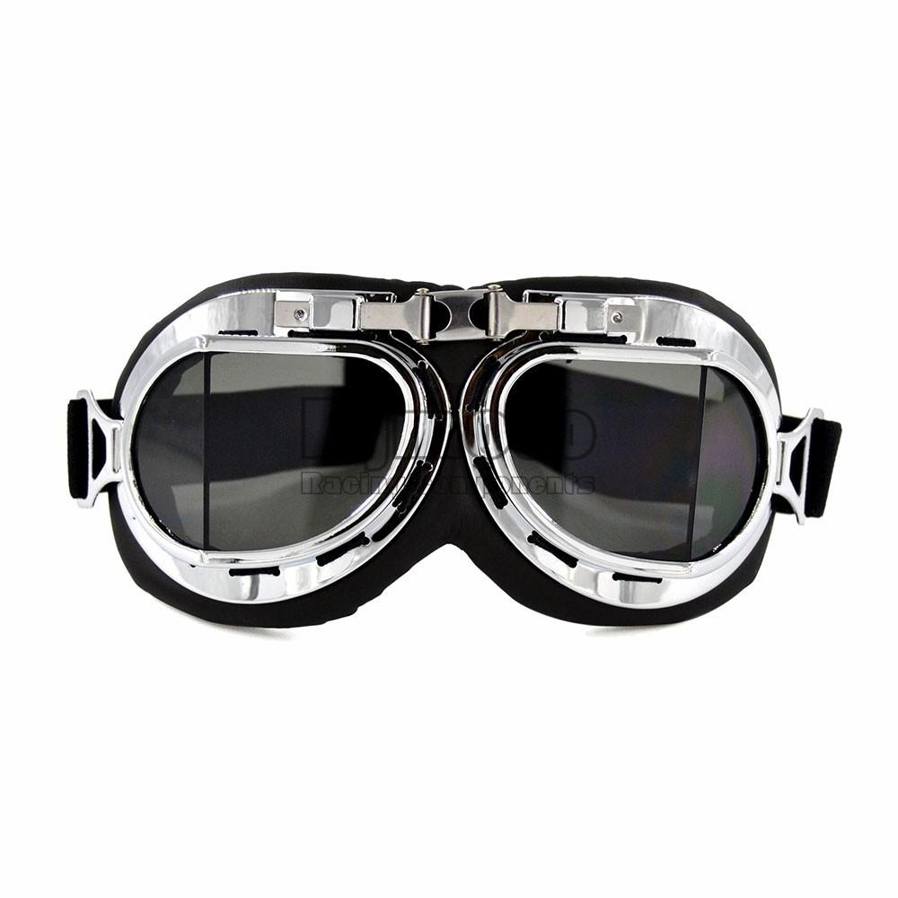 Aviator Pilot Cruiser Motorcycle/&Bicycle Scooter ATV Goggles Eyewear Smoke Lens