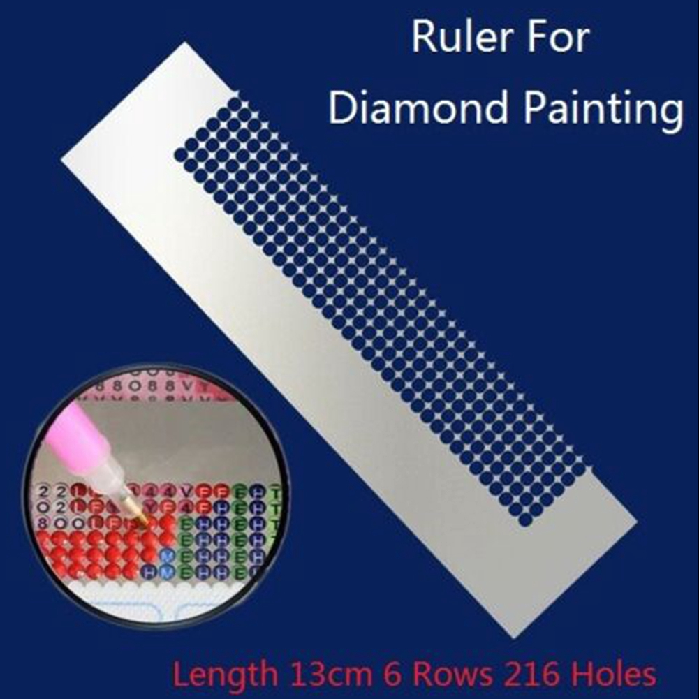 5D Stainless Steel Diamond Painting Ruler for DIY Sewing Embroidery