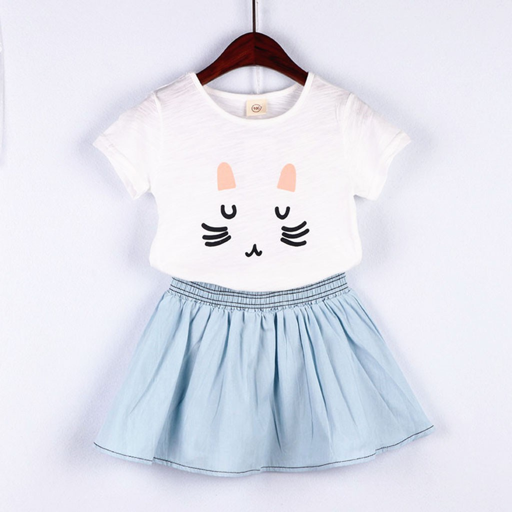 Fashion Baby Girl Clothes Cute Cat Toddler Outfits Set Girls Kids Clothing