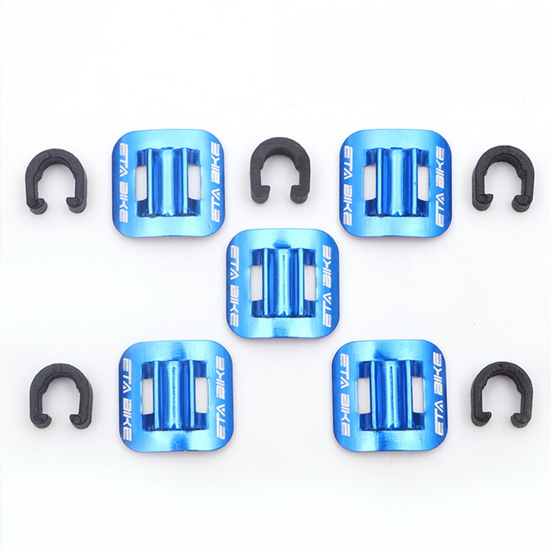 5 Pcs Bicycle Brake Cable Fixed Clamp Conversion Seat MTB Oil Tube Fixed Clips