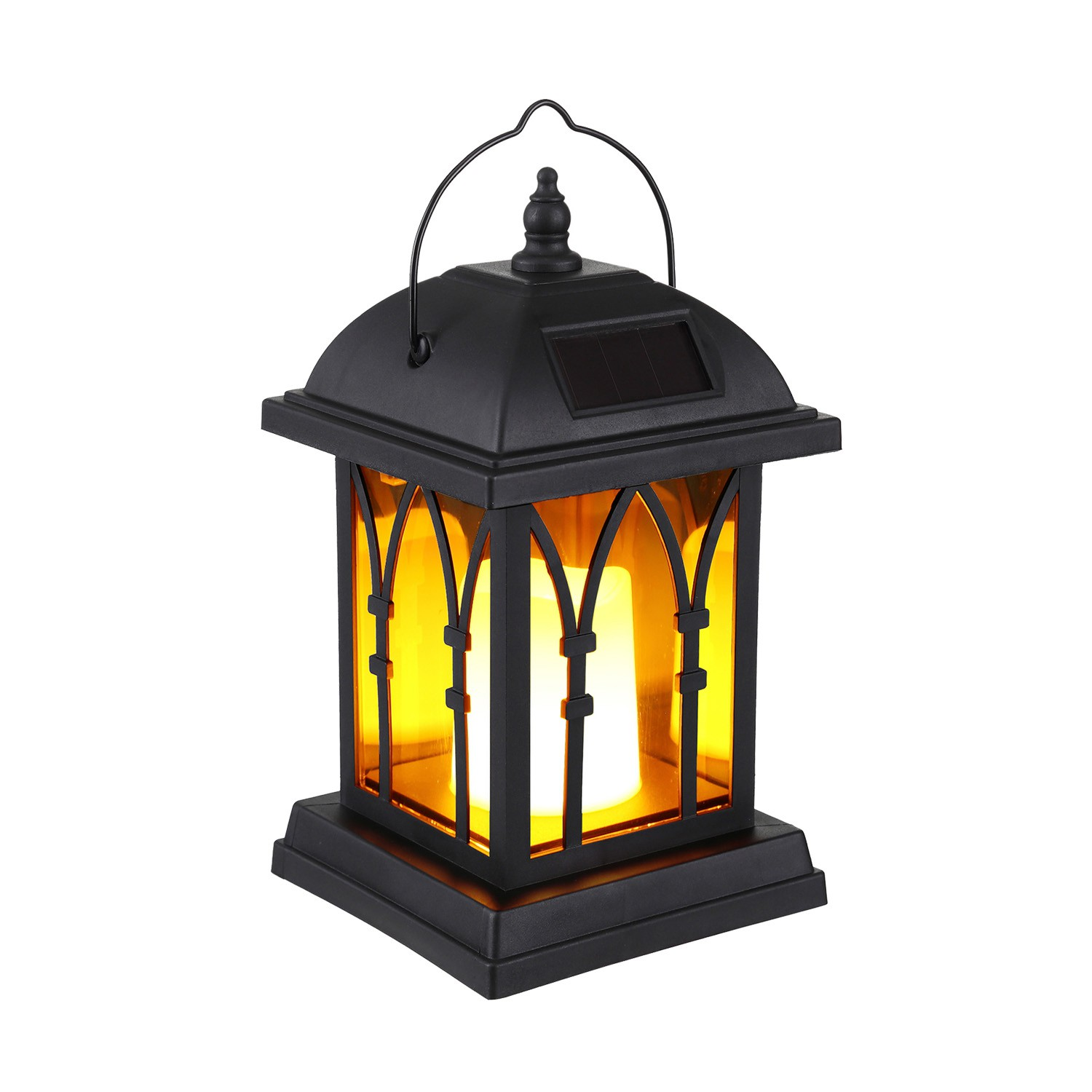 Picture of: 2 Pack Outdoor Hanging Solar Lantern Lantern With Solar Powered Led Candle Dusk To Dawn Timer Table Top Patio Lighting Shopee Philippines