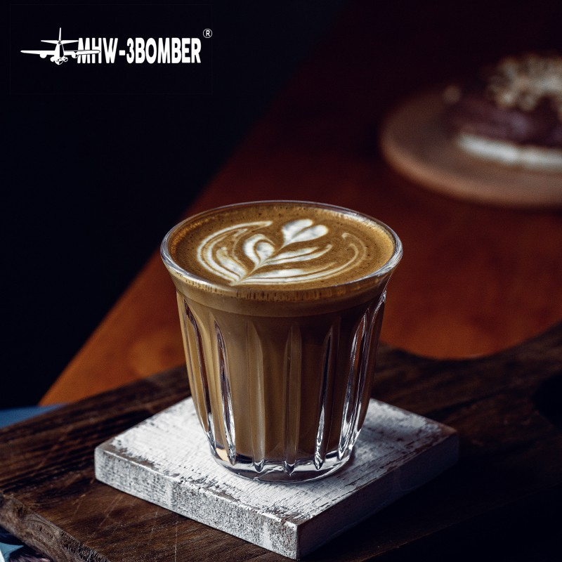 High End Bomber Glass White Cup Latte Coffee Cup Shopee Philippines
