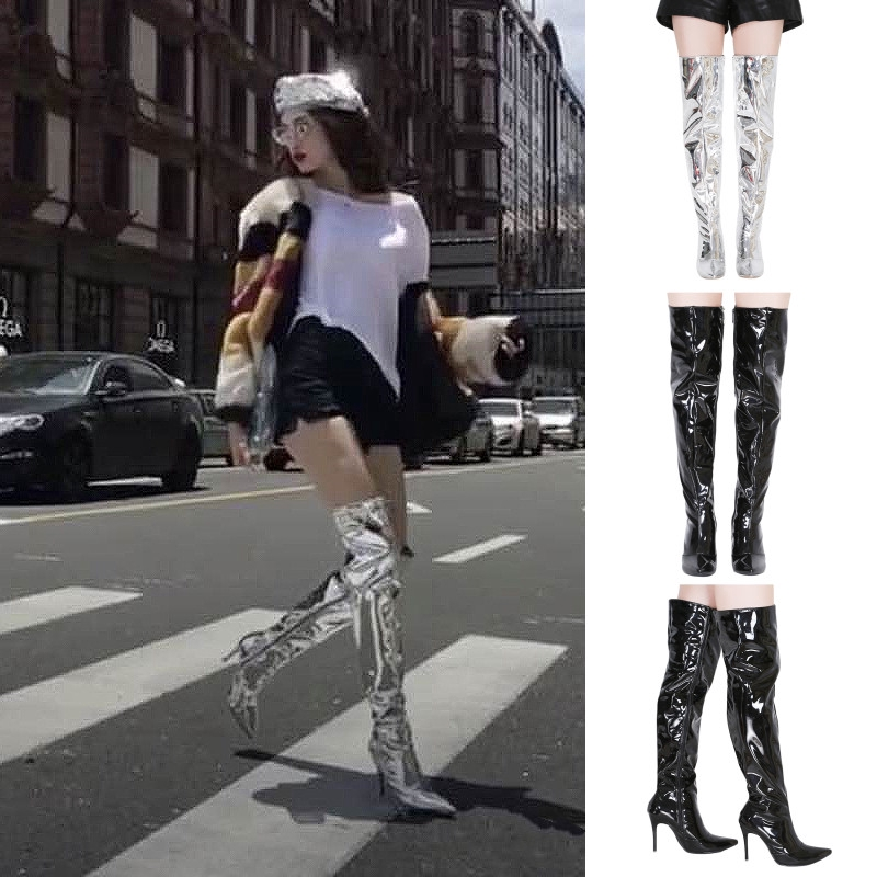 womens Real leather High Heel stiletto Over knee high boots Shoes Club Party New