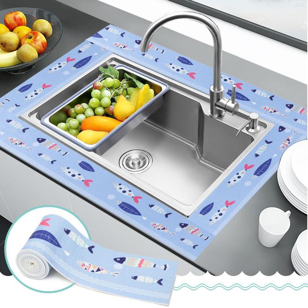 22//38mm*5m Self Adhesive Bath Wall Sealing Strip Sink Basin Edge Trim Kitchen
