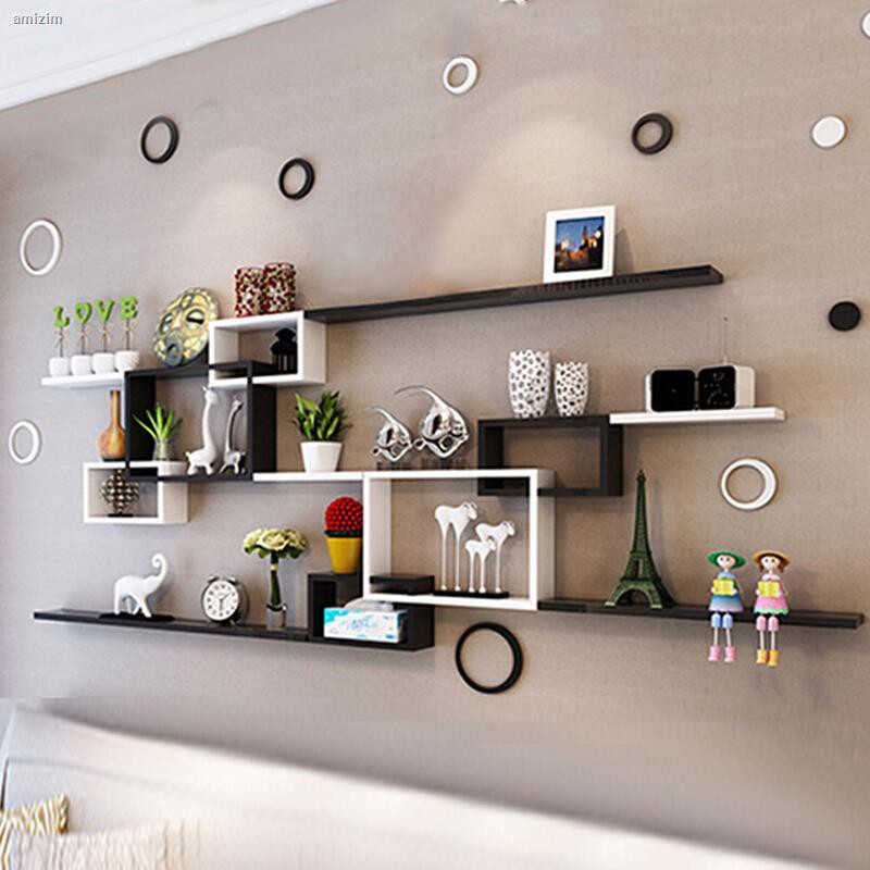 Wall Shelf Living Room Tv Background Wall Mounted Wall Hanging Wall Cabinet Shopee Philippines