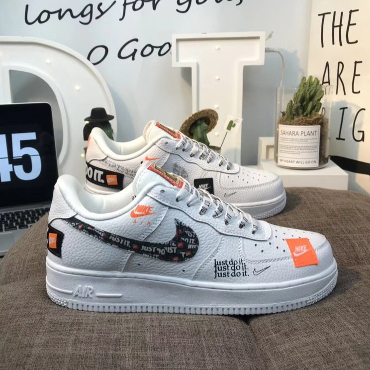 100% Original COD Nike Air Force 1 Low JustDoIt graffiti shoes