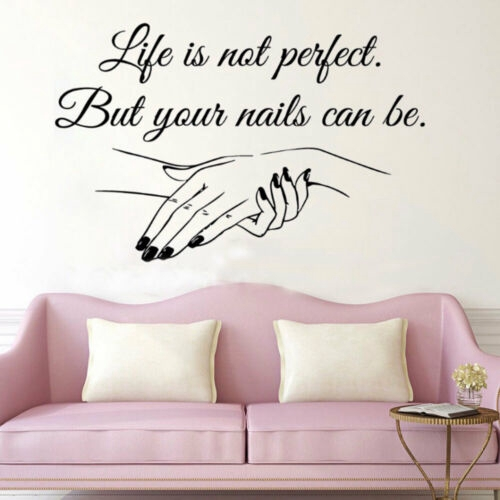 Window Decal Life Is Not Quote Wall Sticker Mural Nail Salon Art Decor Chic Np Shopee Philippines