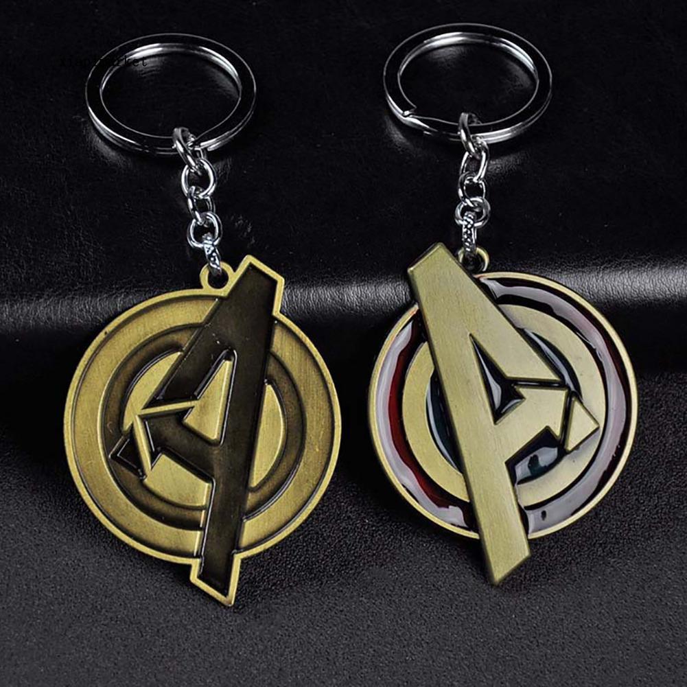 【Xiapimarket】Metal Iron Man Arc Reactor A Logo Avengers Pendant Keychain  Bag Phone Key Ring