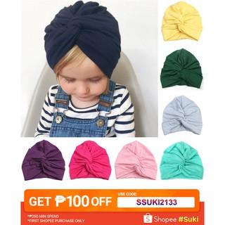 53e062a34 Newborn Baby Girl Infant Rabbit Ear Knot Turban Hat Kids Beanie Cap ...