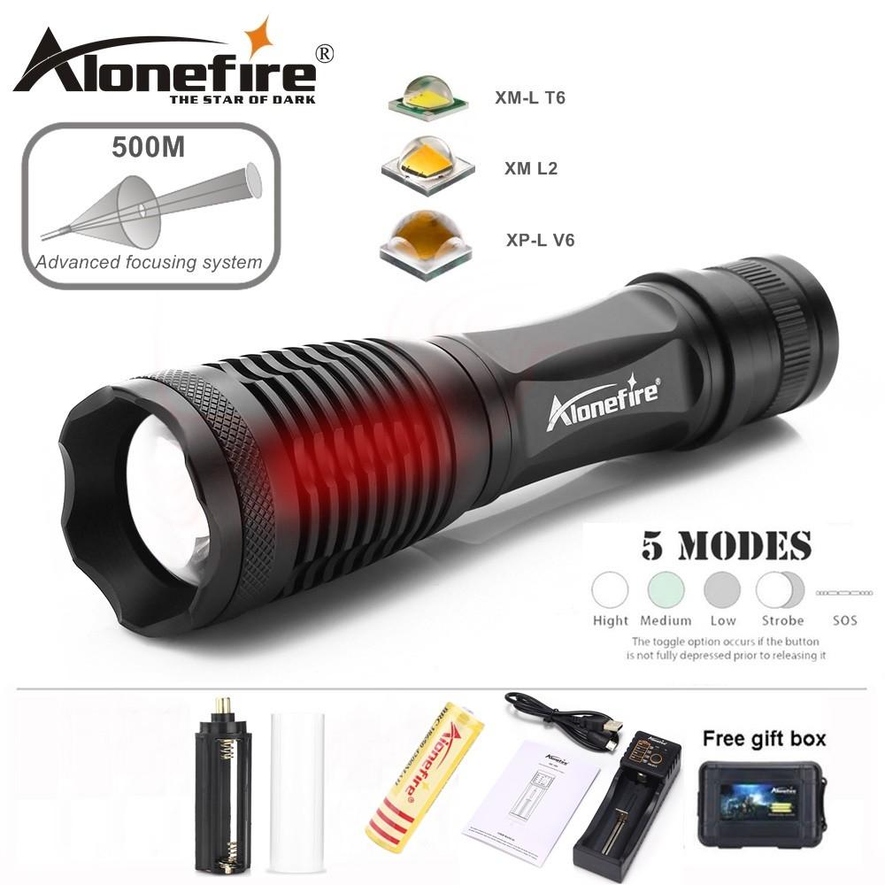 Aluminum Alonefire Zoom Flashlight E007 Waterproof Led Cree LzMVGqSpU