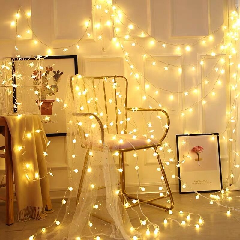 5m 30led String Lights Lamp Indoor And Outdoor Decoration For Kids Room Bedroom Wall Christmas New Year Party Wedding Decoration Warm White Bedroom Lights Hanging Lights Flashingwaterproof Lights Shopee Philippines