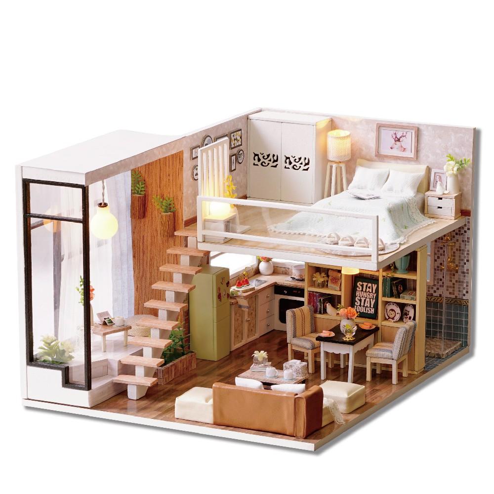 Cuteroom diy miniature loft type apartment dollhouse shopee philippines