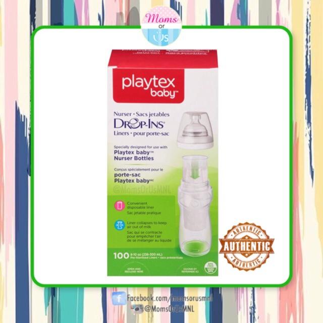 Playtex Baby Drop In Liners 100 Count 8 To 10 Ounce Pre-sterilized A Complete Range Of Specifications Baby Feeding