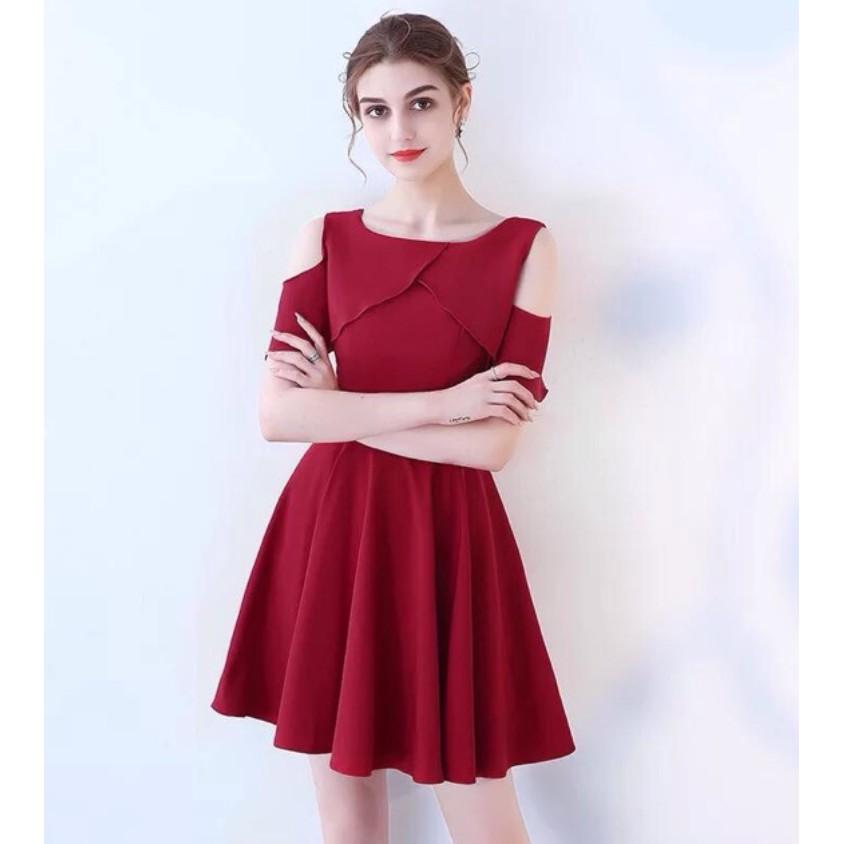 OFf Shoulder Dress Elegant dress casual dress | Shopee ...