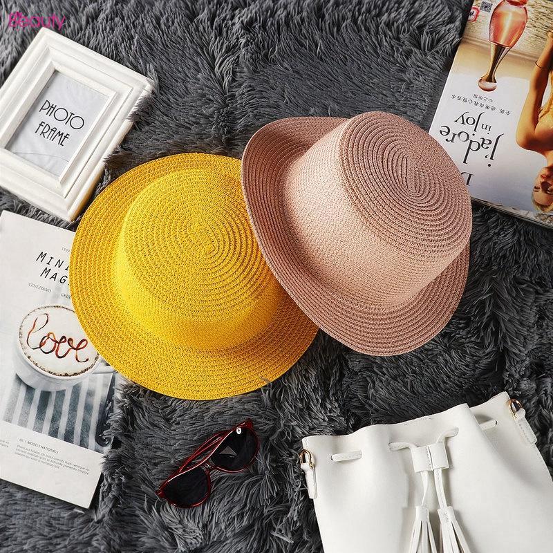 d46677323f6ca0 Ready Stock】Women Summer Beach Hat Sun Straw Floppy Hat | Shopee ...