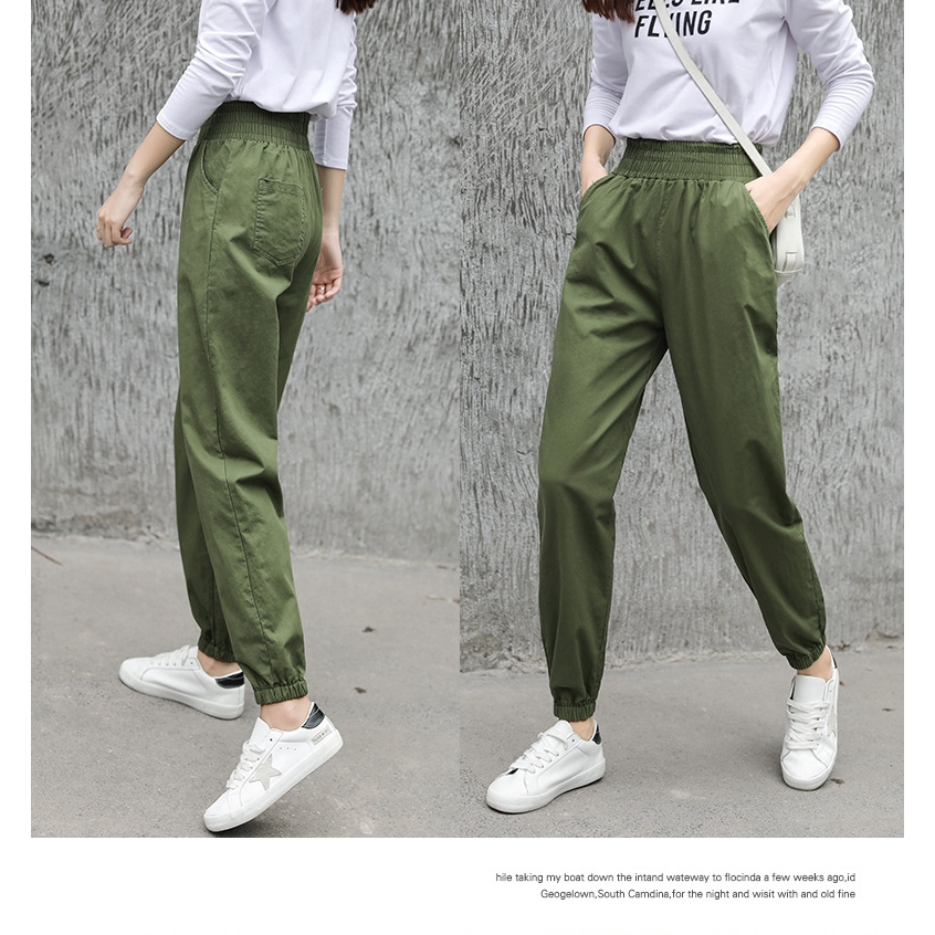 ead32bafd ProductImage. ProductImage. Women American High Waist Loose Casual Cargo  Pants